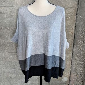 Mango brand grey poncho sweater top